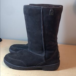 Bearpaw suede leather tall fur lined warm boots